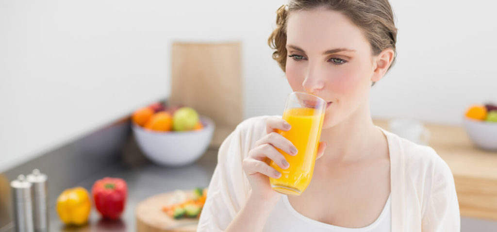 drink orange juice for glowing skin